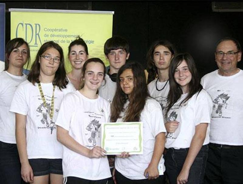 L'équipe de la CJS des Quatre-Vents a remporté un prix pour une photographie réalisée dans le cadre du projet.