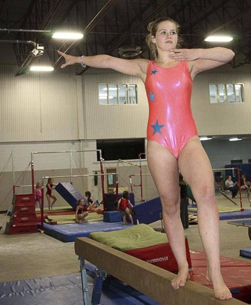 Valérie Girouard, 13 ans, pratique la gymnastique artistique depuis qu'elle a 3 ans.