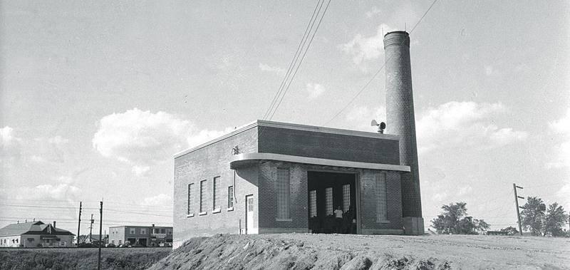 Incinérateur de déchets de la municipalité de Saint-Hyacinthe, 1953, Centre d'histoire de Saint-Hyacinthe, CH116/01-AP-05301.