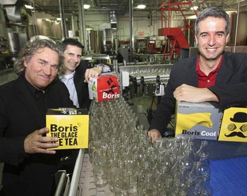 Sur la photo, de gauche à droite, Michel Godin, Simon Gadbois et David Bérubé, de la Brasserie Licorne Québec.