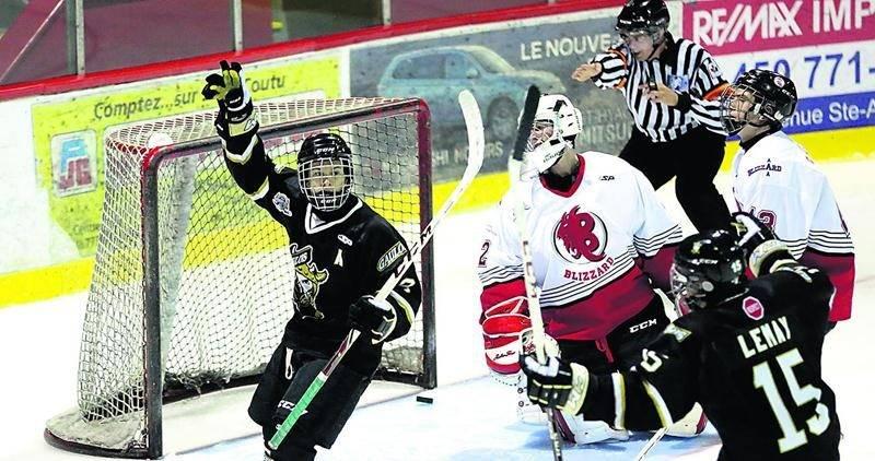 Jonathan Vachon a été le seul à marquer pour les Gaulois dans la défaite contre le Blizzard.  Photo Robert Gosselin | Le Courrier ©