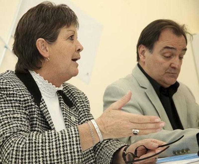 Pierrette Poirier, présidente du Conseil central de la Montérégie CSN et Michel Lessard, conseiller à Fondaction CSN.