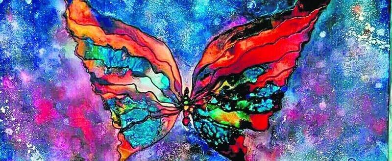 Harmonie colorée de Lyne Rheault, artiste peintre.