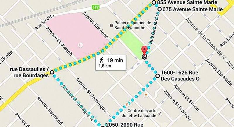 Le départ de la marche se fera vers 13 h 15 du parc Casimir-Dessaulles.