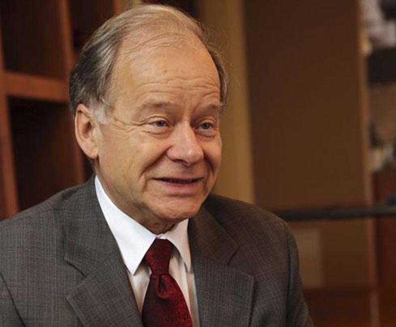 Le candidat à la chefferie du Parti libéral du Québec, l'ancien ministre Raymond Bachand.