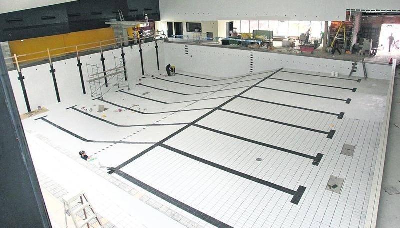 Les travaux de construction du Centre aquatique Desjardins ont été réalisés par l'entreprise Pomerleau, l'un des principaux joueurs dans l'industrie de la construction au Québec. Photothèque   Le Courrier ©