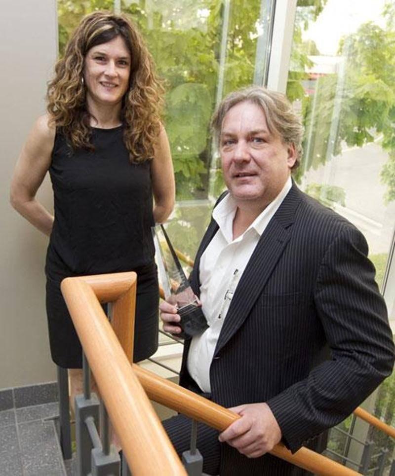 Le directeur général du CLD et de la Cité, Mario De Tilly, en compagnie de la directrice générale adjointe, Nathalie Laberge.