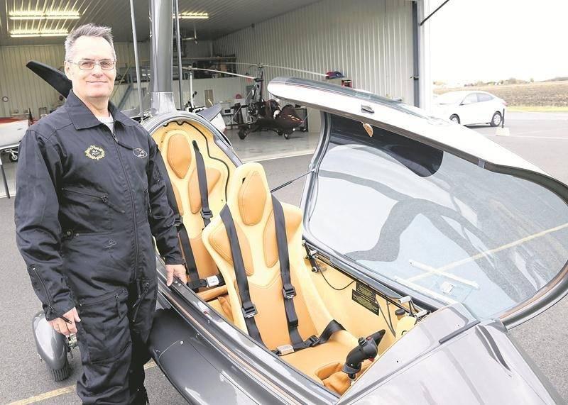 Yves Pontbriand, chef instructeur de l'entreprise ELA Gyro Canada. Photo Robert Gosselin | Le Courrier ©