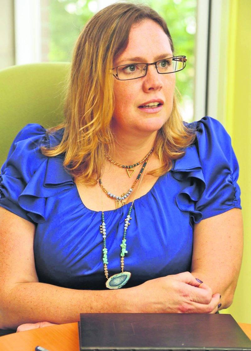 Karine Guilbault vient d'être nommée directrice du développement industriel de Saint-Hyacinthe Technopole. Photo Robert Gosselin   Le Courrier ©