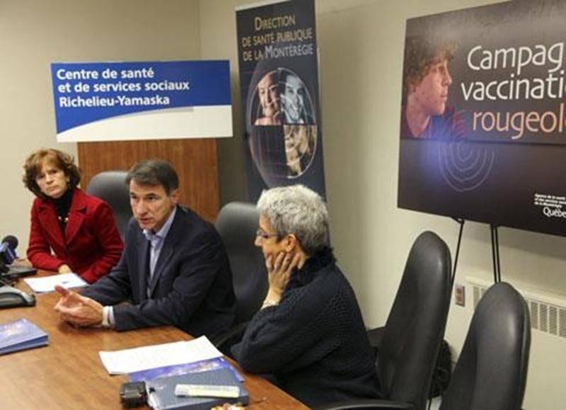 Quatorze cas de rougeole ont été déclarés à Saint-Hyacinthe entre le 12 mai et le 30 novembre 2011.