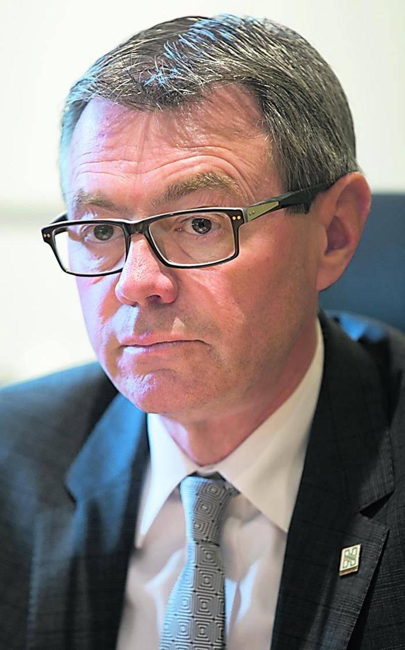 Le maire de Saint-Hyacinthe, Claude Corbeil. Photo Robert Gosselin | Le Courrier ©