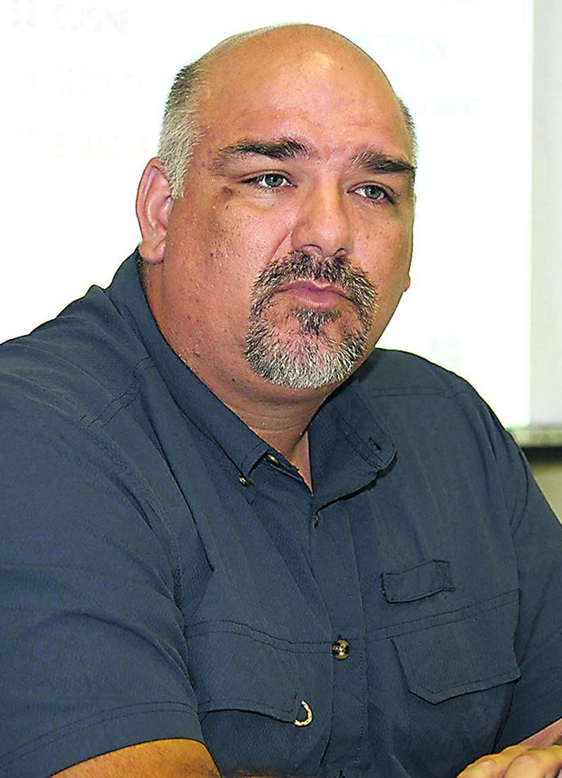Robin St-Pierre, président du syndicat (CSN) des travailleurs de l'Hôtel des  Seigneurs. Photo François Larivière | Le Courrier ©