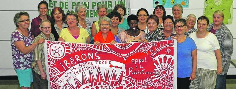 Photo du Café Dé-Libérations du 23 septembre auquel a participé la candidate Brigitte Sansoucy. Photo Denis Hinse