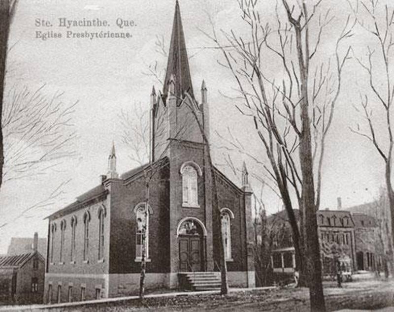 L'église presbytérienne de Saint-Hyacinthe, vers 1900. Archives CHSH.