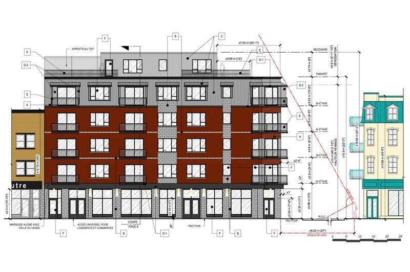 Le projet passe de cinq à six étages