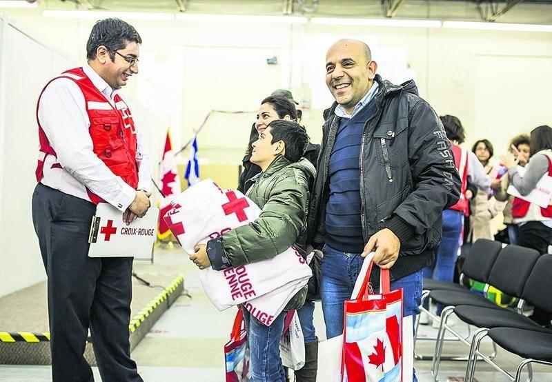 En Montérégie, 89 bénévoles de la Croix-Rouge ont participé à l'accueil des réfugiés syriens. Photo Immigration Réfugiés et Citoyenneté Canada
