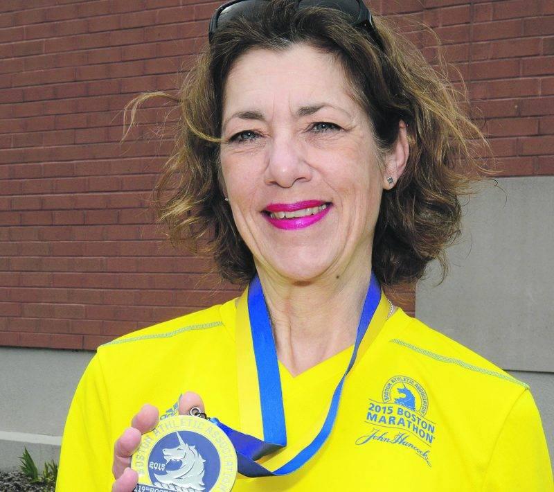 Élaine Colpron a participé pour la première fois au marathon de Boston. Photo François Larivière | Le Courrier ©