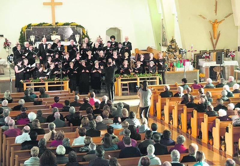 Le concert offert le 20 décembre par l'Harmonie Vocale de Saint-Hyacinthe à l'Église Saint-Joseph a été un grand succès. Marco Langlois ©