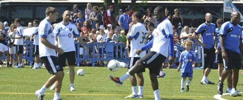 Les Marco Di Vaio, Patrice Bernier, Alessandro Nesta et Troy Perkins fouleront le terrain de la Polyvalente Hyacinthe-Delorme mardi dans le cadre d'une pratique publique de l'Impact de Montréal.