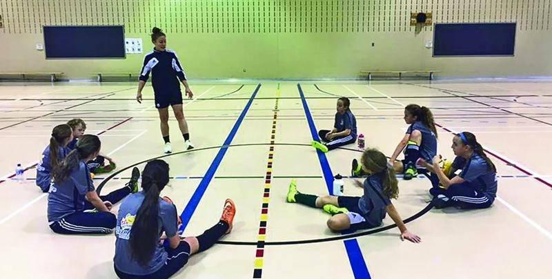 La prochaine session de l'Académie de soccer Andréanne Gagné à Saint-Hyacinthe débutera en septembre. Photo Courtoisie