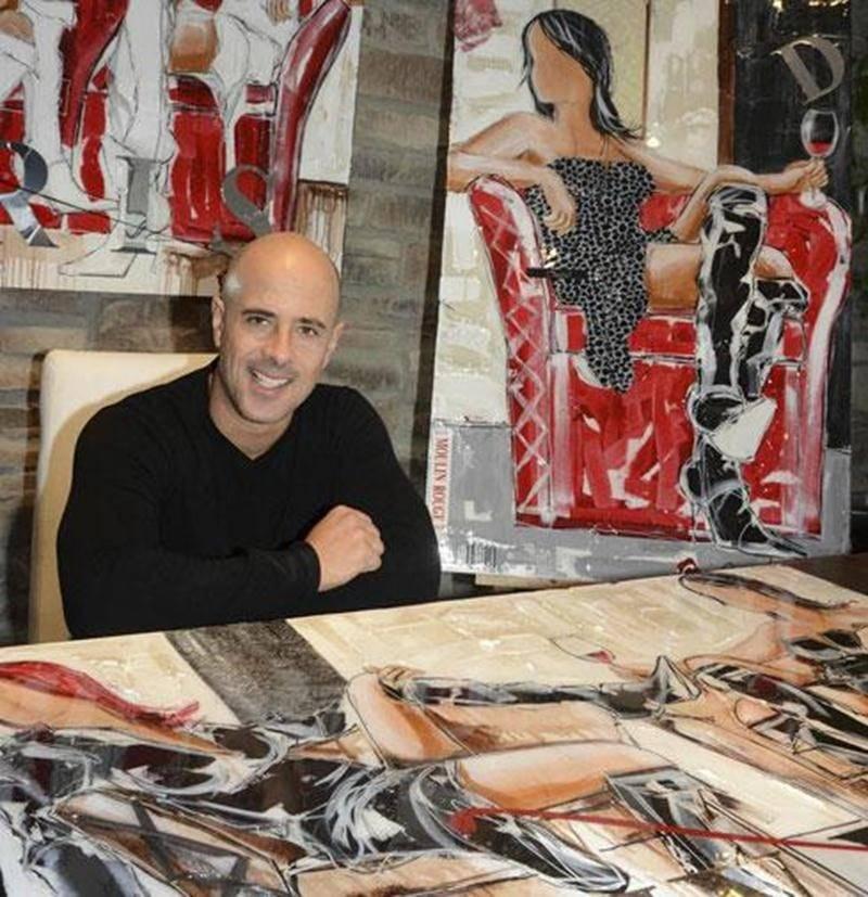 Du 15 mai au 15 juin, l'Espiègle recevra l'exposition <em>Moulin Rouge</em> de l'artiste maskoutain Cordo.