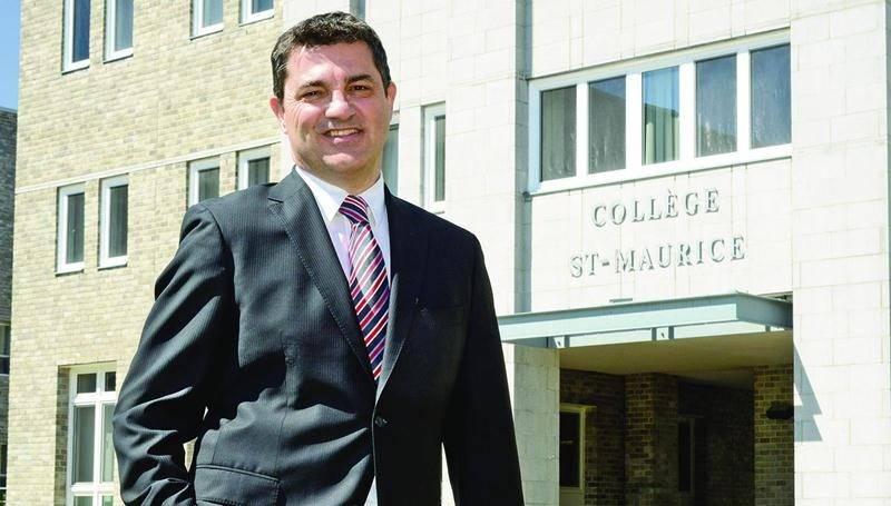 Jean-Pierre Jeanotte achève son mandat à la direction générale du Collège Saint-Maurice. Photo François Larivière | Le Courrier ©