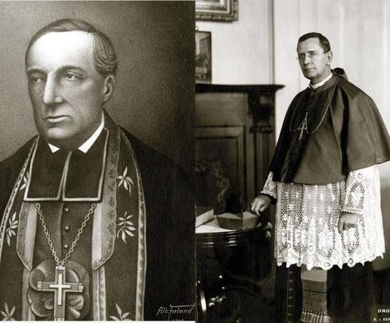Jean-Charles Prince et Fabien-Zoël Decelles, évêques en 1853 et 1937. Archives CHSH
