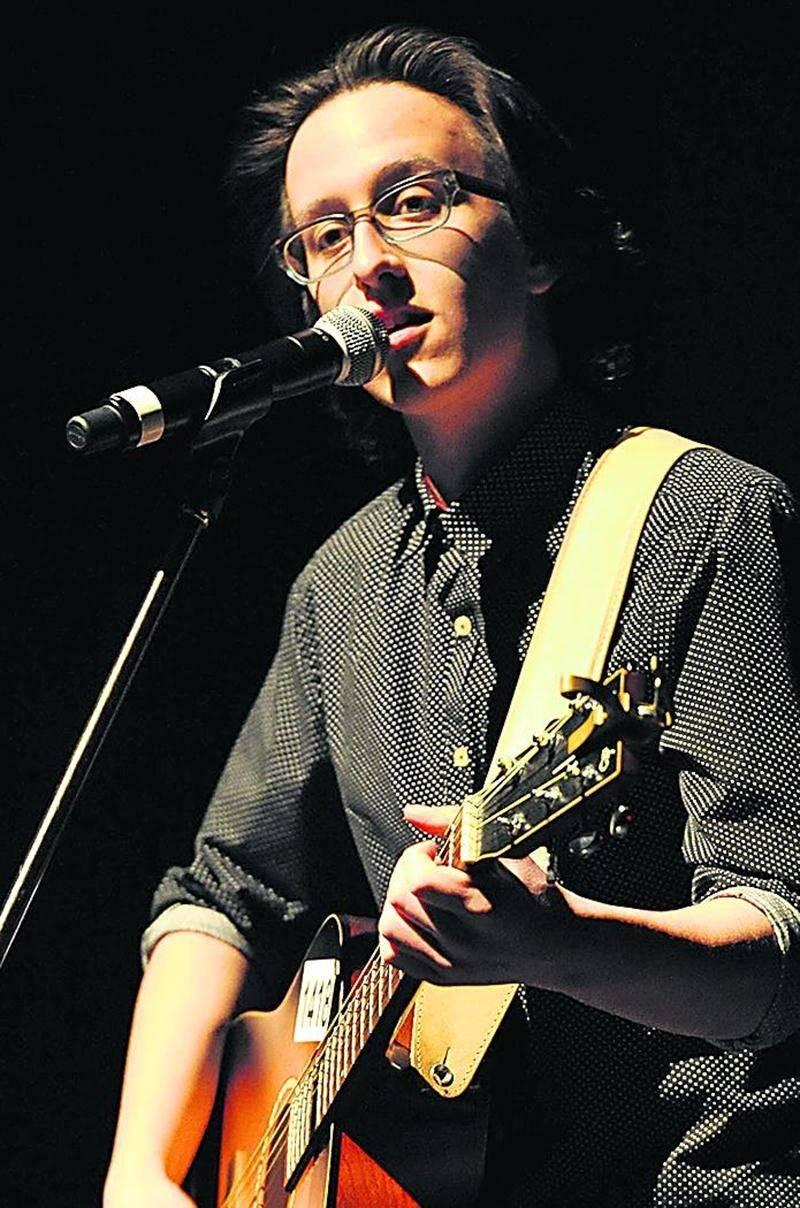 Philippe Castonguay, participant à la finale locale du concours Cégep en spectacle. Photo François Larivière | Le Courrier ©