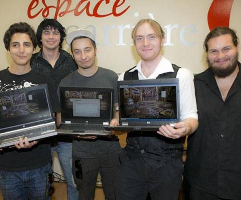Sur la photo on retrouve, de gauche à droite, Yassine Choquette, Gabriel Gazaille, Olivier Ballard, Serge Alix St-Pierre et Dave Tremblay.