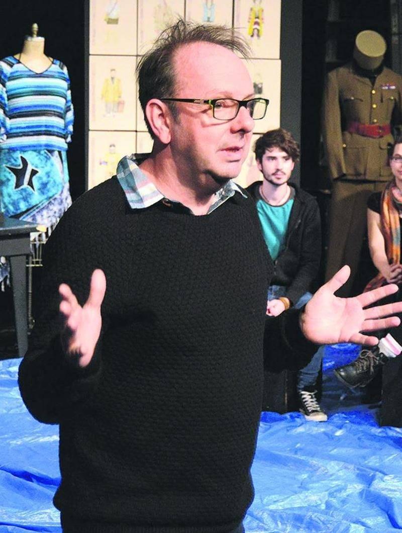 Benoit Vermeulen, codirecteur artistique du Théâtre Le Clou, signe la mise en scène de L'Énéide, la deuxième pièce des finissants de l'École de théâtre du Cégep de Saint-Hyacinthe.Photo François Larivière   Le Courrier ©