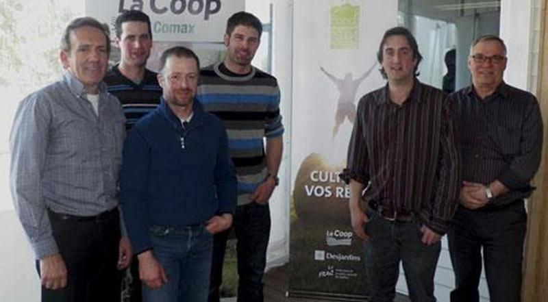 Sur la photo, de gauche à droite : Patrice Gagnon, directeur général, Stéphane Laflamme, Alain Brasseur, Martin Brodeur-Choquette, Dominic Châtelain et Michel Gauvin, président.