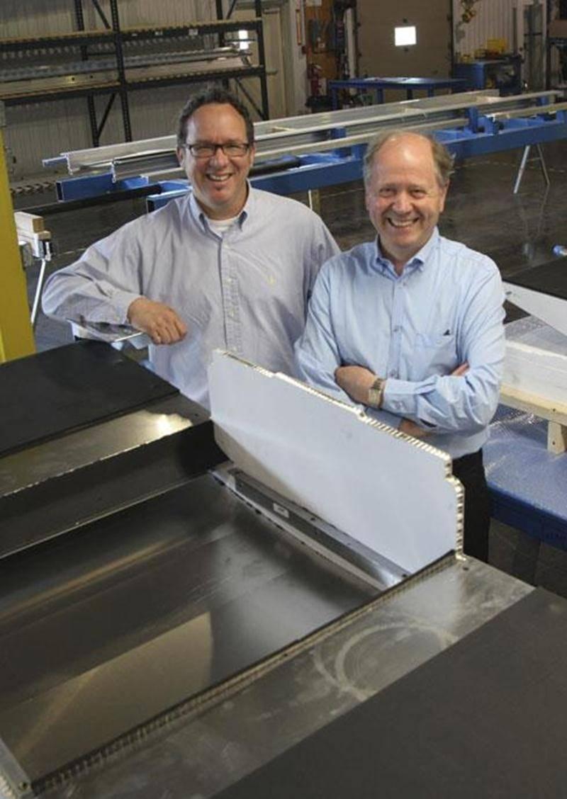 Le directeur général pour l'Amérique du Nord Benoit Pomerleau et le fondateur de CEIT Michel Sibout.
