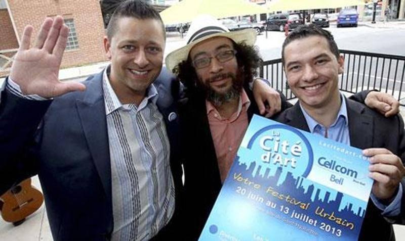 Charly Niles, Victor Varacalli et Loïc Côté sont les trois directeurs du nouveau festival urbain La Cité d'Art.