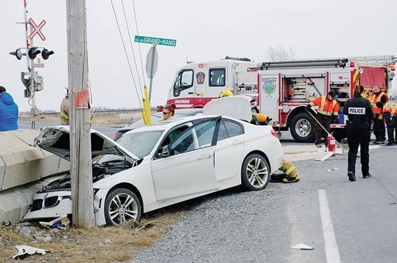 Collision entre trois voitures à Sainte-Marie-Madeleine
