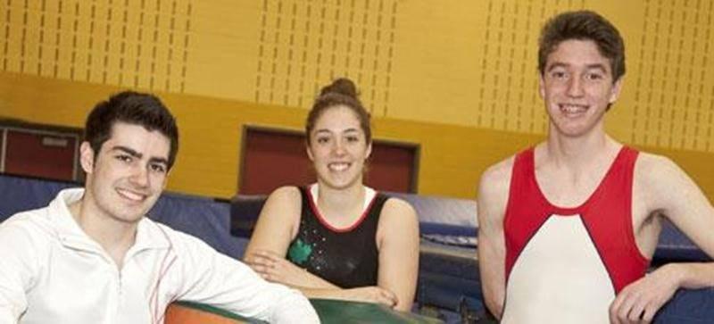 Maxime Proulx, Mélanie Pietroniro-Savoie et Jean-Philippe Camirand ont participé à la compétition Canada Élite au début avril.