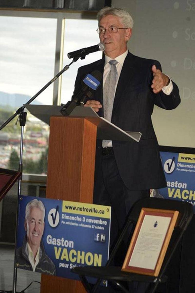 Gaston Vachon a lancé lundi sa campagne électorale en abordant les grandes lignes de son programme devant de nombreux invités.