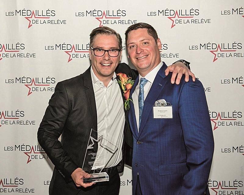 Les deux propriétaires de Maska Électrique (de gauche à droite) : Christian Grenier, président et Mathieu Legris, vice-président.