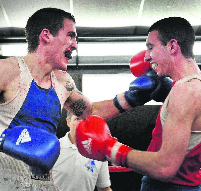 Samuel Lajoie (à gauche) sera opposé à Anthony Côté en finale du gala Boxemania VIII. Photothèque   Le Courrier ©