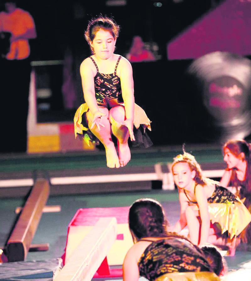 Les gymnastes ont pu montrer leurs apprentissages de la dernière saison.