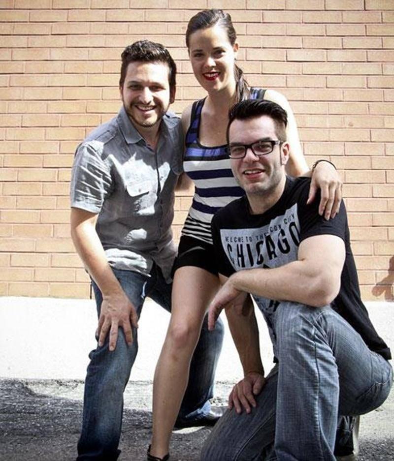 Jimmy Lord, Emmanuelle St-Jean et Yan Scott du groupe Karma.