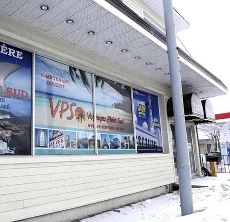 L'agence Voyages Plein Sud qui était située sur la rue Sainte-Anne a déclaré faillite.