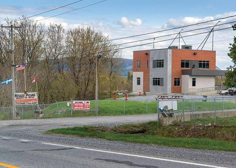 Le site de Matériaux Picard à Saint-Pie au moment de sa fermeture précipitée au
