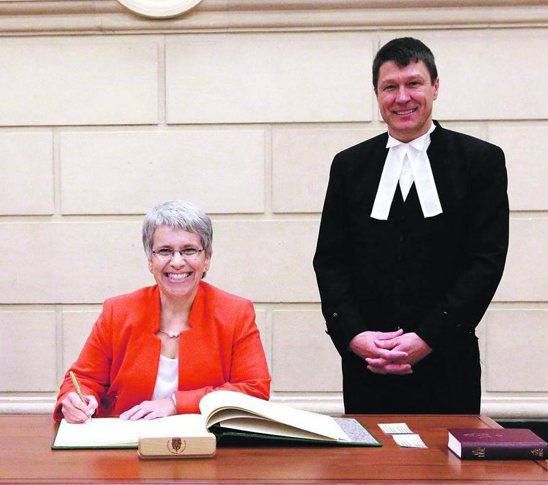 La députée néodémocrate, Brigitte Sansoucy, a prêté serment la semaine dernière au Parlement d'Ottawa. HOC-CDCBernard Thibodeau