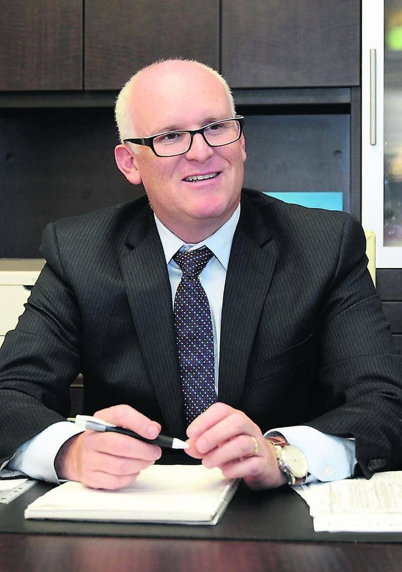 Éric Dumouchel, directeur général de la concession automobile maskoutaine Baril Ford Lincoln. Photo François Larivière   Le Courrier ©