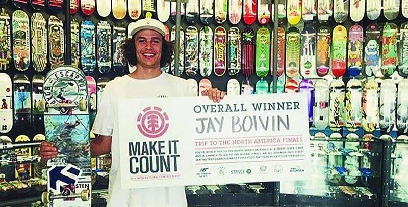 Jérémie Boivin a remporté l'épreuve régionale de Brossard dans le cadre de la compétition Element - Make It Count, lui valant une participation au rendez-vous nord-américain.