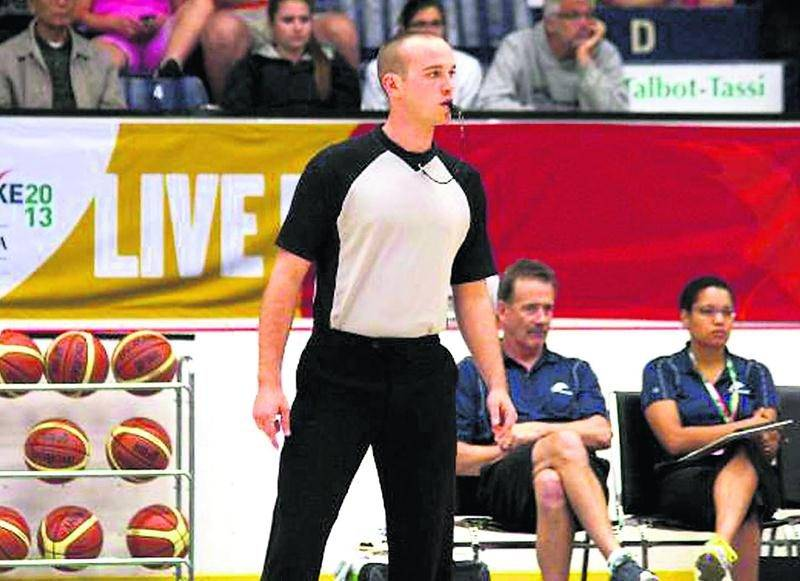 Ludger Blanchard continue à retenir l'attention. Le Maskoutain vient tout juste d'arbitrer la finale du Championnat canadien U17. Photo Courtoisie