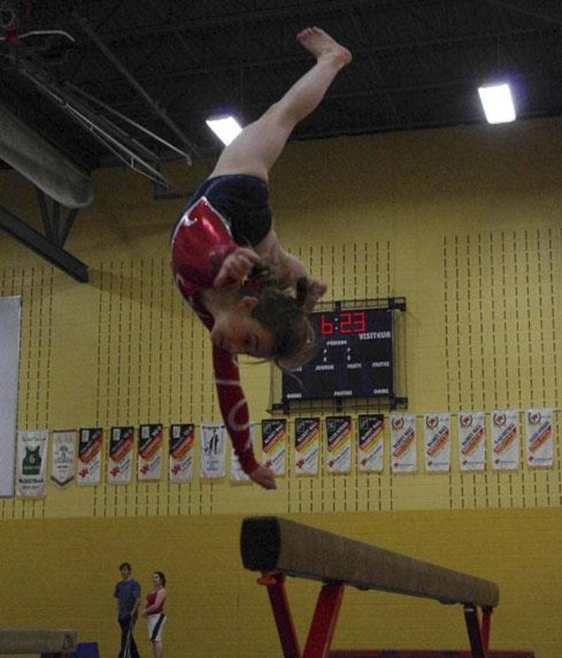Andréanne Lalancette, en catégorie novice, a été l'une des athlètes de Gymnaska-Voltigeurs qui s'est le plus démarquée durant la 1<sup>re</sup> sélection en gymnastique artistique.