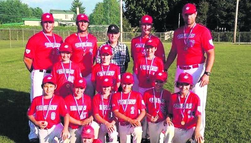 Les Condors de Saint-Hyacinthe moustique AA ont été les seuls à atteindre le championnat provincial de baseball. Photo Facebook Baseball Saint-Hyacinthe