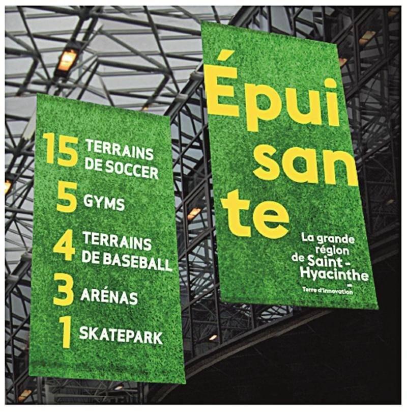 La campagne d'image promotionnelle de la grande région de Saint-Hyacinthe se déclinait sur plusieurs supports publicitaires. Photothèque | Le Courrier ©