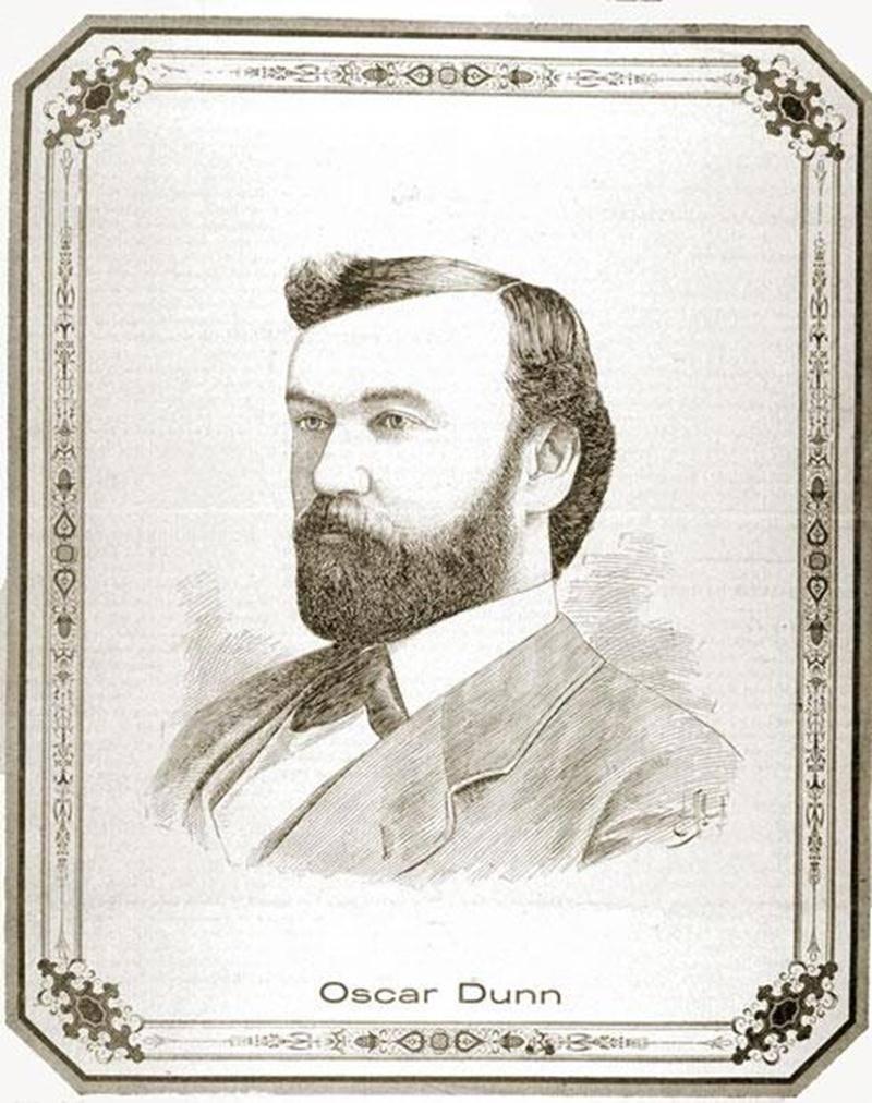 Oscar Dunn : Gravure d'Edmond Z. Massicotte, Le Monde illustré, vol. 17 no 863. p. 449 (17 novembre 1900)